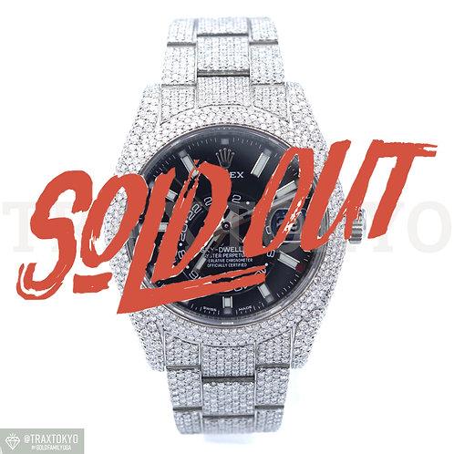 ロレックス ROLEX スカイドゥエラー 326934 オイスターブレス フルダイヤモンド 42mm 自動巻き メンズ