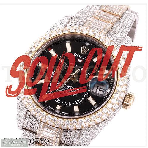 ロレックス ROLEX スカイドゥエラー 326933 フルダイヤモンド バケット メンズ 希少品