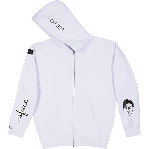 WHITE ZIP-UP HOODIE STYLE 3