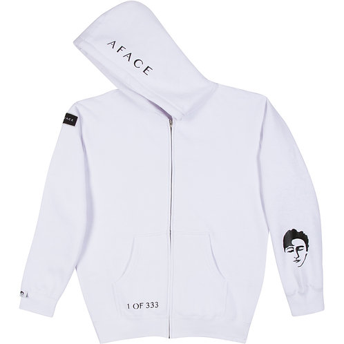 WHITE ZIP-UP HOODIE STYLE 2