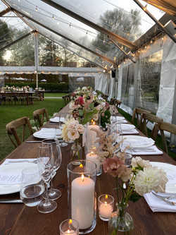 Crossback Chairs with Farm  wedding, graduation, religious event, festival, corporate event Tables