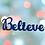 """Thumbnail: Décoration en bois """"BELIEVE"""""""""""