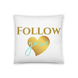 """Coussin """"Follow your heart"""""""