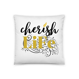 "Coussin ""Cherish life"""