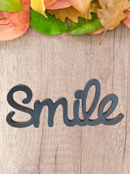 """Décoration en bois """"Smile"""""""