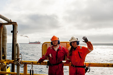 A photo from a trip to Skarv taken from a Semi Sub drilling rig