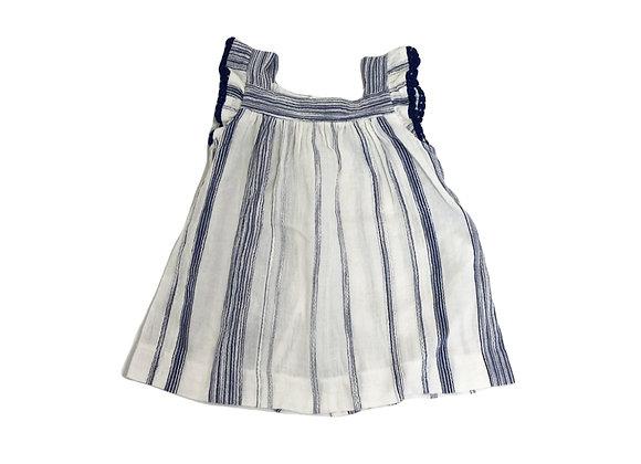 Robe Zara bleue et blanche 9/12 mois (80cm)