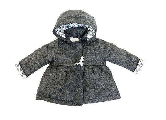 Manteau Obaibi à capuche gris 6 mois