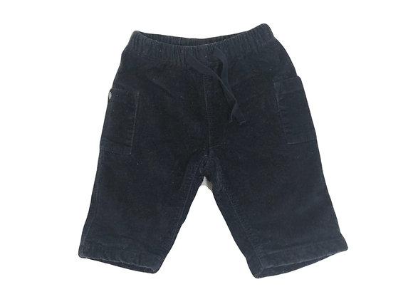 Pantalon Petit Bateau bleu velours 3 mois