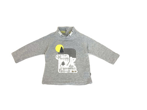 T-shirt Obaibi gris à message 9 mois