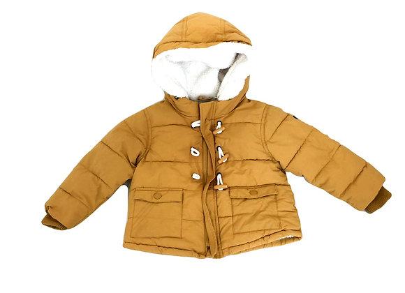 Manteau d'hiver Obaibi jaune fourré 2 ans