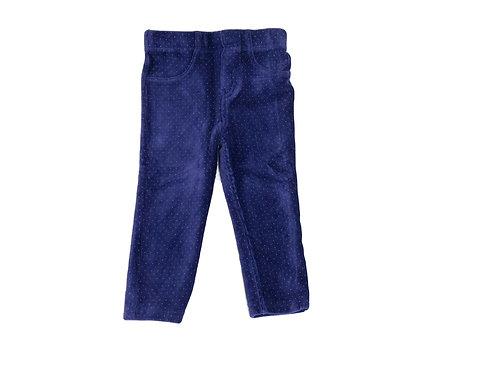 Pantalon Z Génération en velours bleu 2 ans