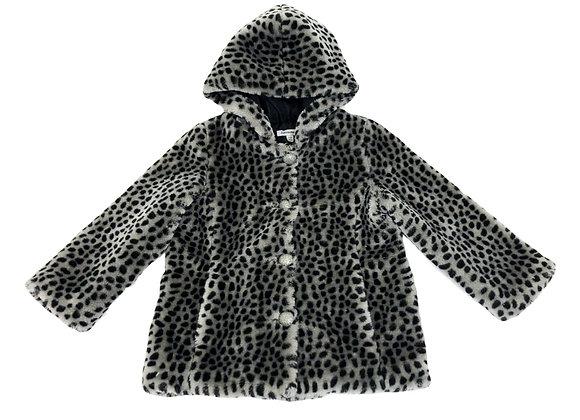 Manteau 3 pommes motifs léopard 2/3 ans
