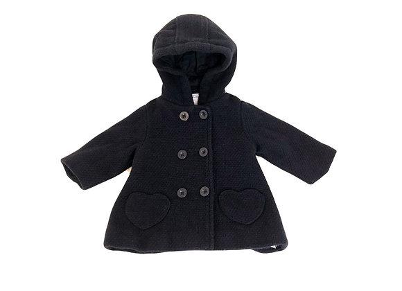 Manteau Vertbaudet bleu marine poches coeurs 6 mois