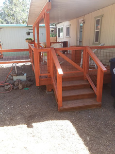 New deck and hog wire railing