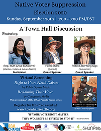 Urban Poverty Forum: Native Voter Suppression