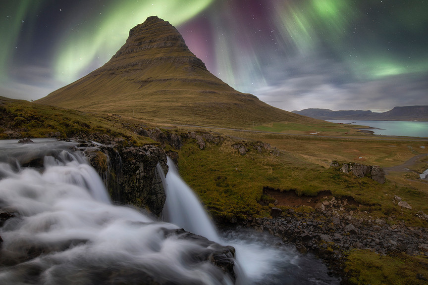 Kirkjufell Aurora, Iceland