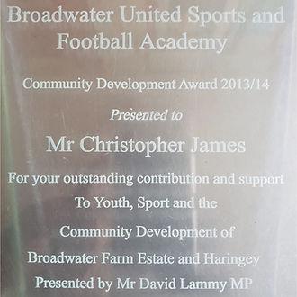 Adrenaline Sports - Chris James BWF Award 2014