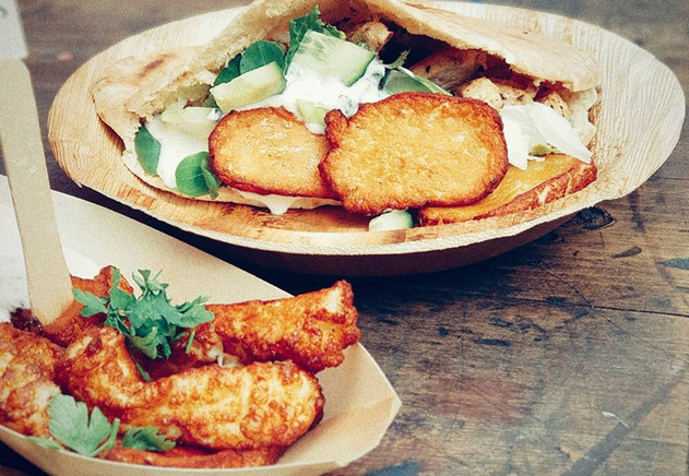 Cyprus Kouzina - Halloumi Fries & Chicken Souvlaki
