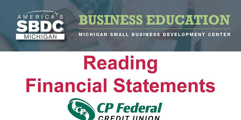 Free Business Seminar: Reading Financial Statements