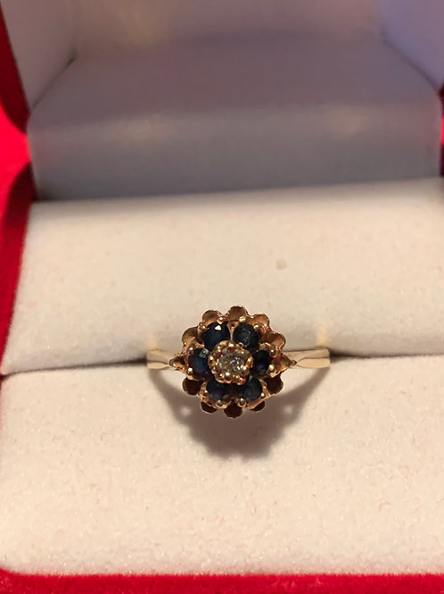 Sapphires & Genuine Diamond Size 5.5
