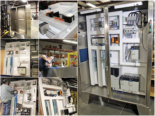 Industrial Automation Panel Construction Collage