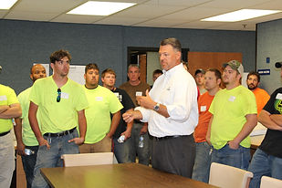 Apprentices get a tour of the ERMCO facility