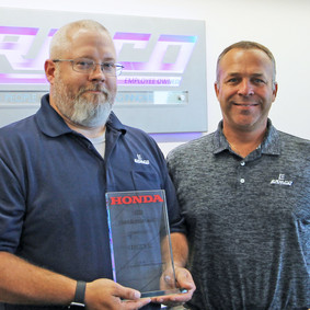 HONDA HONORS ERMCO AS A SUPPLIER THAT HELPS KEEP BUSINESS AND PRODUCTION OPERATIONS RUNNING SMOOTHLY