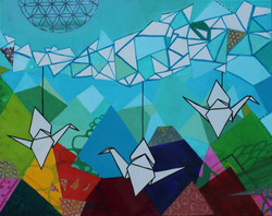 Landscape & Origami Mobile