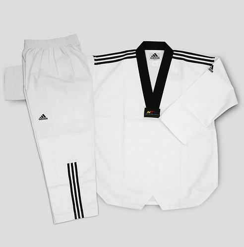 ADIDAS Black V Neck uniform - WTF Approved Dobok