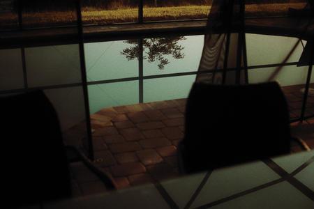 Pool reflection at dusk. Florida