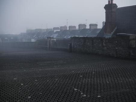 Morning Fog. Near the Fountain District