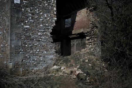 derelict Farm Building. Cleeve Common