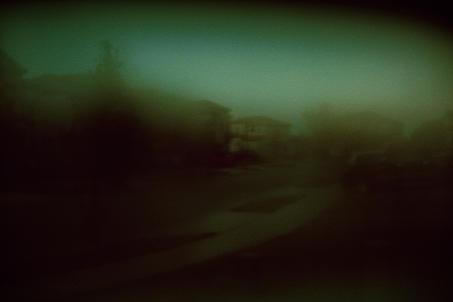Mist. Residential street, Florida