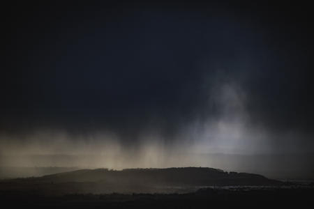 Hail Storm Clouds over Cheltenham. Cleeve Common
