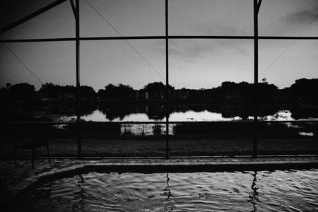 Lake and pool. Florida rental property
