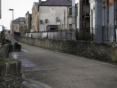 Bank Place. Derry City Wall