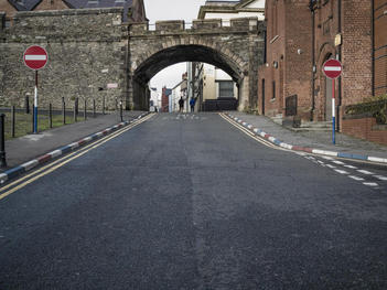 New Gate, Hawkin Street, Fountain District. Derry City Wall