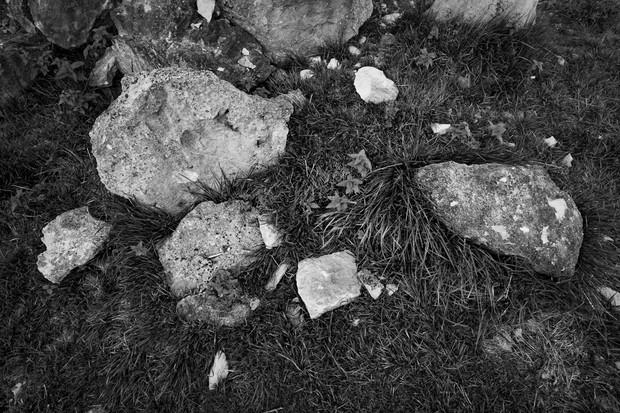 Cotswold Stone Rocks on Quarry Floor