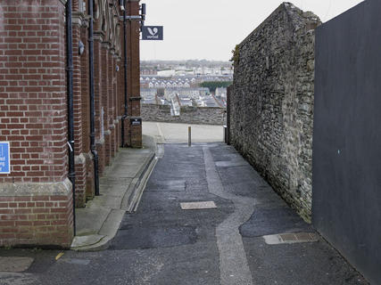 Double Bastion. Bogside estate in the background. Derry City Wall.