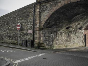 New Gate, Fountain District, Hawkin Street. Derry City Wall.