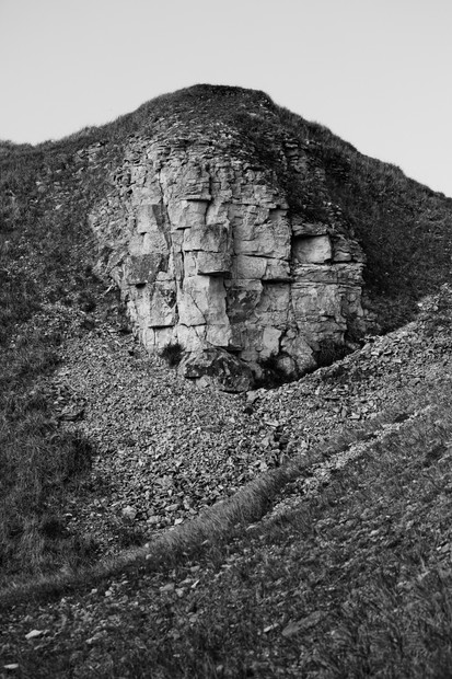 Cotswold Stone Rockface and Scree Slope