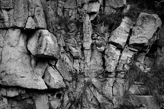 Cotswold Stone Quarry Rockface