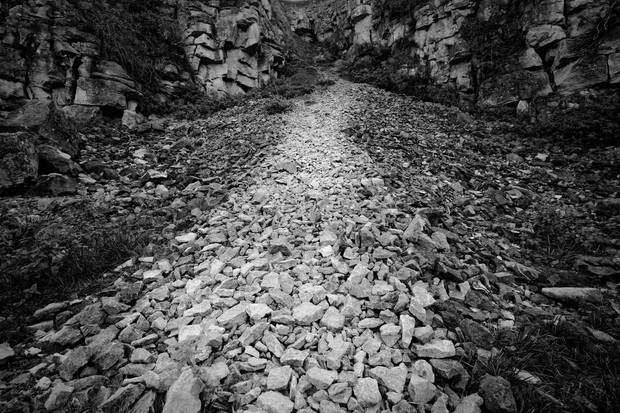 Scree and Cotswold Stone Rockface