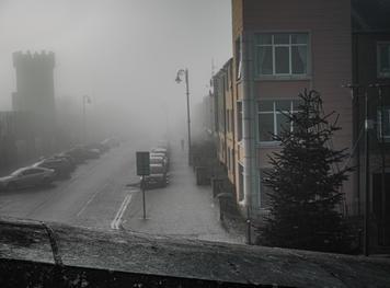 Bishop's Gate. Morning Fog