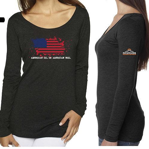 Women's Scoop Neck Long Sleeve