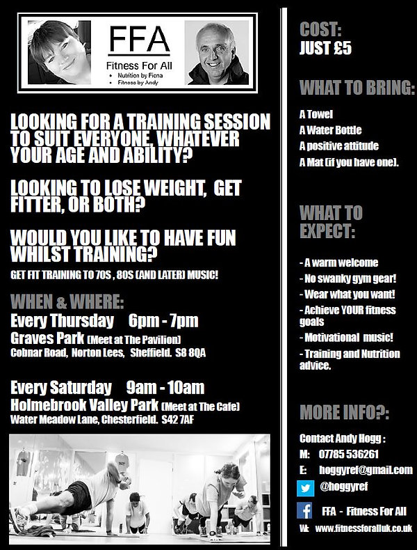 Fitness Sessions Sheffield and Chesterfi