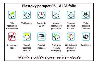 plastovy parapet parapetrs alfa folie