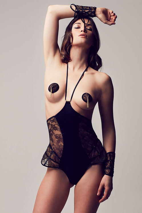 Xena Playsuit Swarowski Lace Tatu Couture Killed in Action Lingerie