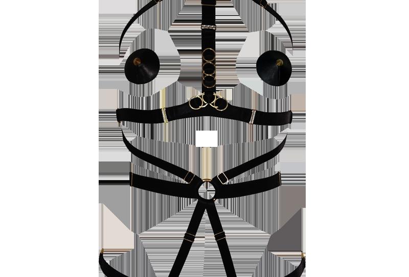 Medusa Playsuit - The Model Traitor - Killed in Action Luxury Lingerie Bondage